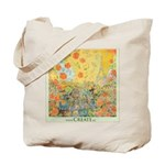 Paris Eiffel Tower and Swan Grocery Tote Bag