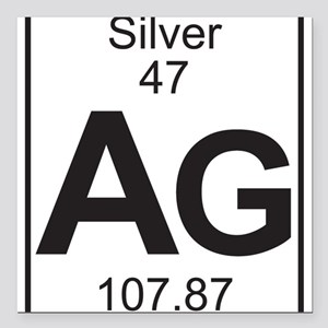 Periodic table silver car accessories cafepress element 47 ag silver full square car magnet urtaz Image collections
