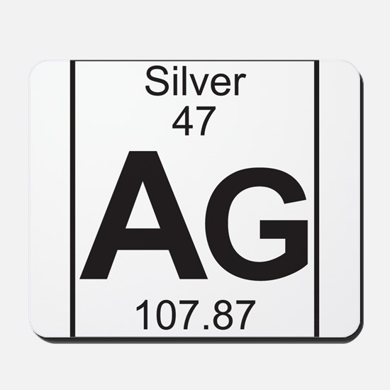 Element 47 - Ag (silver) - Full Mousepad