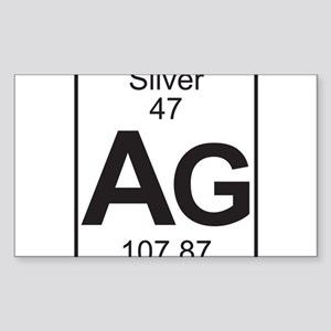 Periodic table silver stickers cafepress element 47 ag silver full sticker urtaz Choice Image