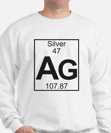 Element 47 - Ag (silver) - Full Sweatshirt