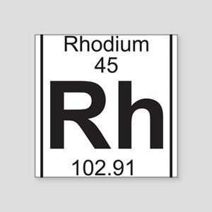 Element 45 - Rh (rhodium) - Full Sticker