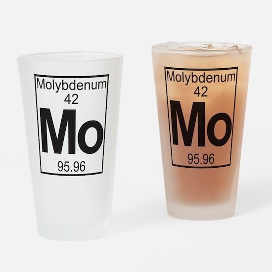 Element 42 - (molybdenum) - Full Drinking Glass