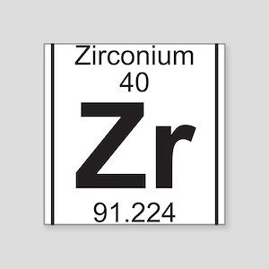 Periodic table zirconium stickers cafepress element 40 zr zirconium full sticker urtaz Gallery