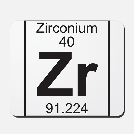 Element 40 - Zr (zirconium) - Full Mousepad