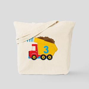 Dump Truck I'm 3 Tote Bag