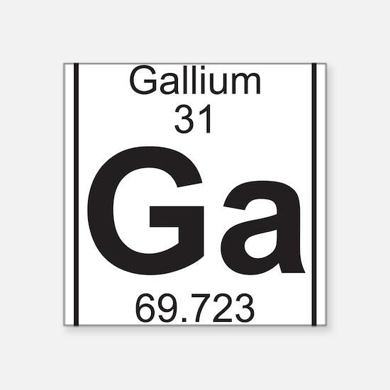Element 31 - Ga (gallium) - Full Sticker