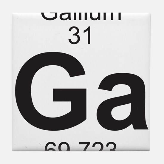 Element 31 - Ga (gallium) - Full Tile Coaster