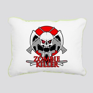 Zombie killer red Rectangular Canvas Pillow