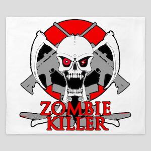 Zombie killer red King Duvet