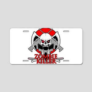 Zombie killer red Aluminum License Plate