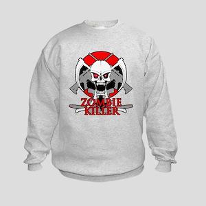 Zombie killer red Kids Sweatshirt