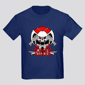 Zombie killer red Kids Dark T-Shirt