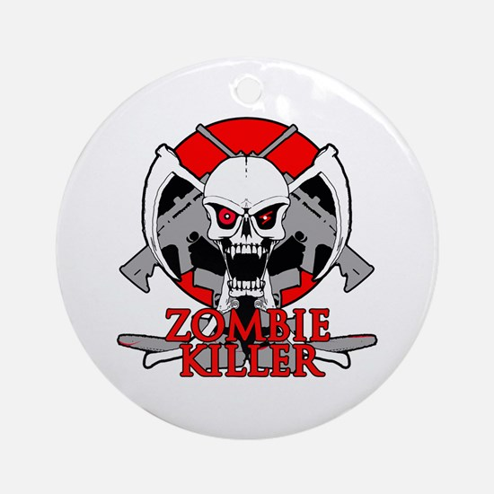 Zombie killer red Ornament (Round)