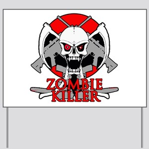 Zombie killer red Yard Sign