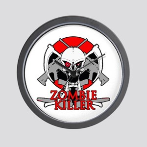 Zombie killer red Wall Clock