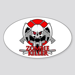 Zombie killer red Sticker (Oval)