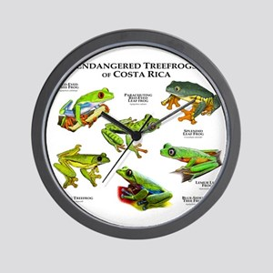 Endangered Tree Frogs of Costa Rica Wall Clock