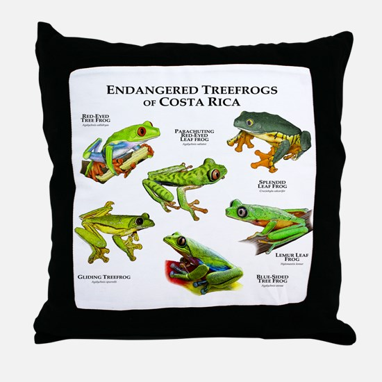 Endangered Tree Frogs of Costa Rica Throw Pillow