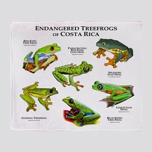 Endangered Tree Frogs of Costa Rica Throw Blanket
