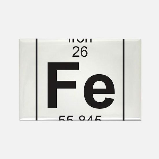 Element 26 - Fe (iron) - Full Rectangle Magnet