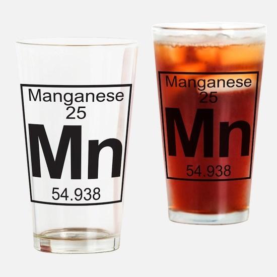 Element 25 - Mn (manganese) - Full Drinking Glass