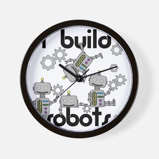 I Build Robots Wall Clock