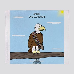 Animal Overachievers - Scout Eagle Throw Blanket