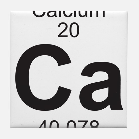 Periodic table calcium coasters cork puzzle tile coasters element 20 ca calcium full tile coaster urtaz Image collections