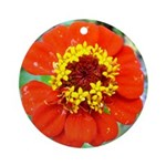 red flower Onondaga State Park Mo f Ornament (Roun