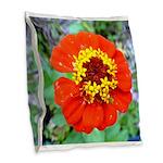 red flower Onondaga State Park Mo f Burlap Throw P
