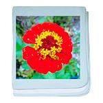 red flower Onondaga State Park Mo f baby blanket
