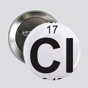 "Element 17 - Cl (chlorine) - Full 2.25"" Button"
