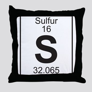 Element 16 - S (Sulfur) - Full Throw Pillow