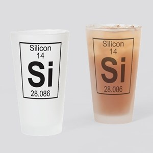Element 14 - Si (silicon) - Full Drinking Glass