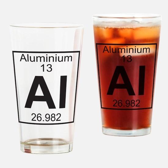 Element 13 - Al (aluminium) - Full Drinking Glass