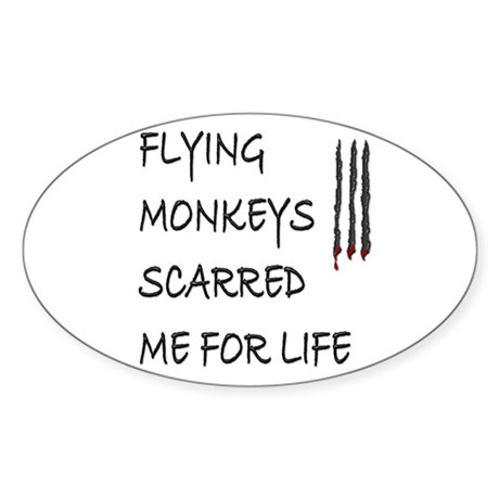 Flying Monkeys Oval Sticker