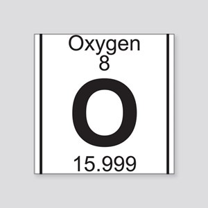 Oxygen in periodic table stickers cafepress element 8 o oxygen full sticker urtaz Images