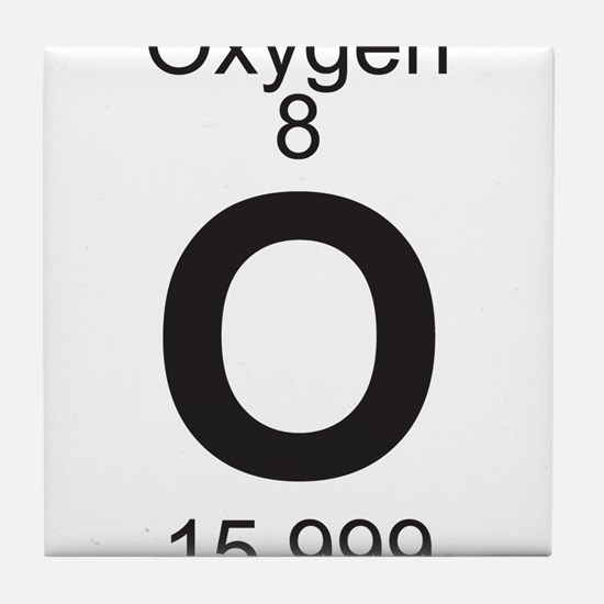 Periodic table oxygen coasters cork puzzle tile coasters element 8 o oxygen full tile coaster urtaz Choice Image