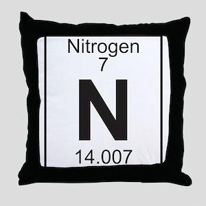 Element 7 - N (nitrogen) - Full Throw Pillow