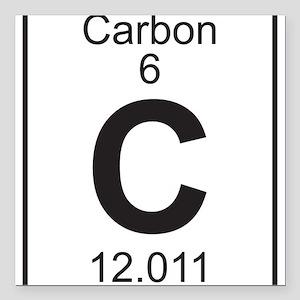 Periodic table carbon car accessories cafepress element 6 c carbon full square car magnet 3 urtaz Choice Image