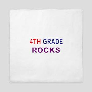 4TH GRADE ROCKS Queen Duvet
