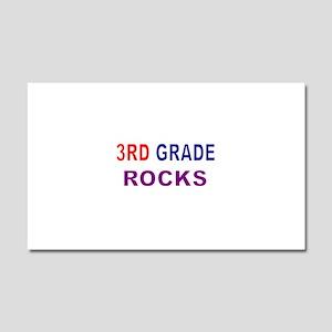 3RD GRADE ROCKS Car Magnet 20 x 12