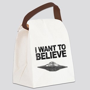 I want to Believe Canvas Lunch Bag