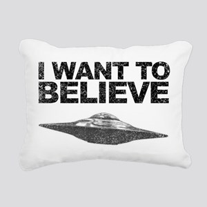 I want to Believe Rectangular Canvas Pillow