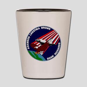 STS 28 Columbia Shot Glass