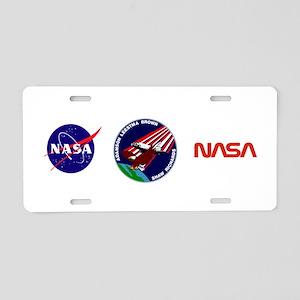 STS 28 Columbia Aluminum License Plate