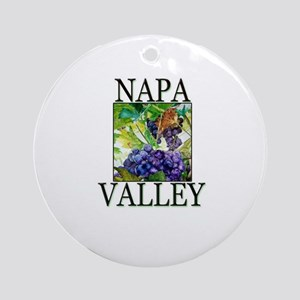 Napa Valley Ornament (Round)