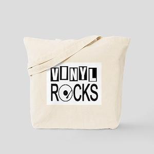 VINYL ROCKS Tote Bag