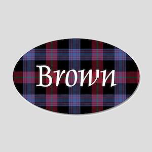 Tartan - Brown 20x12 Oval Wall Decal